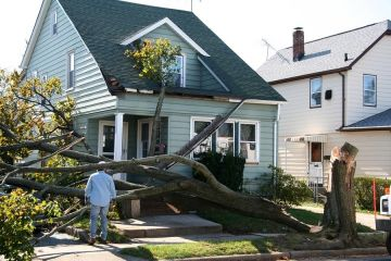 Storm damage to roof by Keystone Roofing & Siding LLC