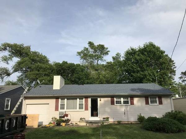 New GAF Biscayne Blue Timberline Roof with New Siding Chimney in Point Pleasant (1)