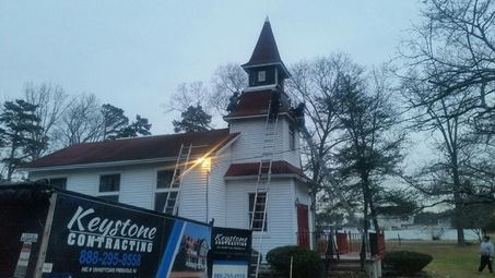 Steeple Replacement at the Faith Bible Church in Jackson, NJ (2)