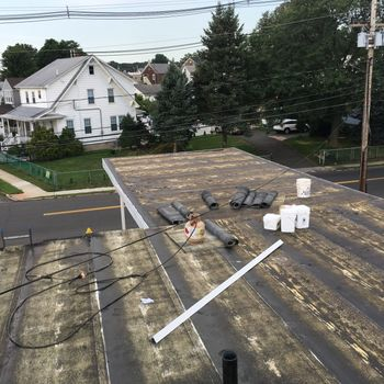 New Gaf Torch down roof on the Garden State Christian Church in South River, NJ